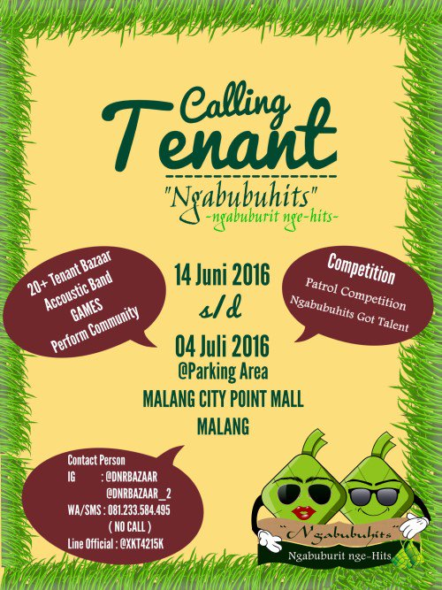 Event Malang On Twitter Ngabubuhits Calling Tenant For Food Fashion And Food Truck Event From 14 June 4 July 2016 Cp 081233584495 Https T Co Tzcpmdx6qg