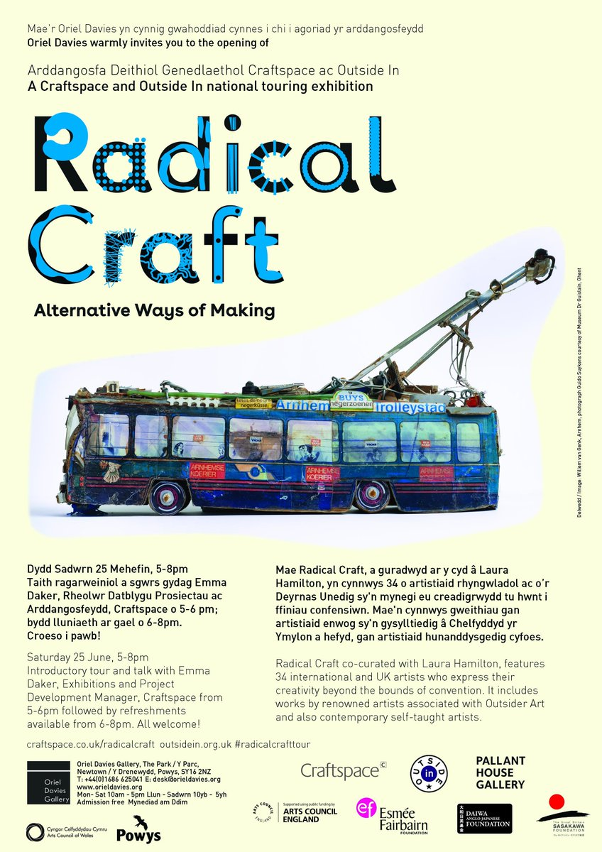Join us for Radical Craft: Alternative Ways of Making exhibition + tour from Emma Daker #RadicalCraftTour https://t.co/6xxlVZfitr