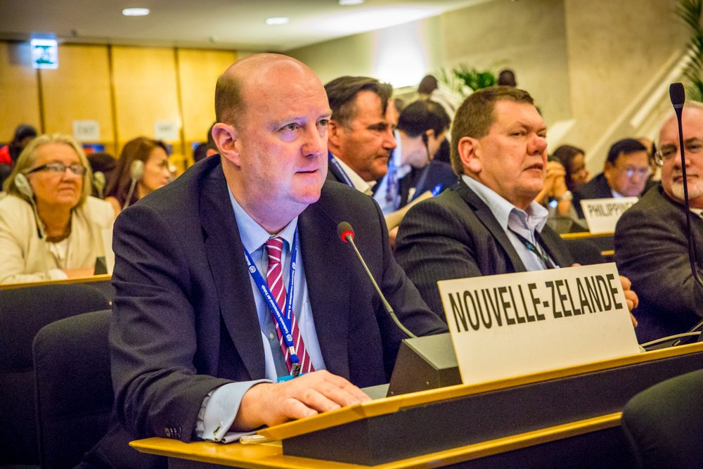 """Delegate Phil O'Reilly supports conclusion #ILC2016 """"Global supply chains motors of growth & decent work"""" @ioevoice https://t.co/vNlg9nwwnb"""