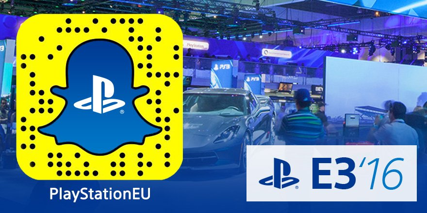 Are you on Snapchat? Be sure to add 'PlayStationEU' for behind-the-scenes snaps direct from #E32016 https://t.co/VtSMCEqeJx
