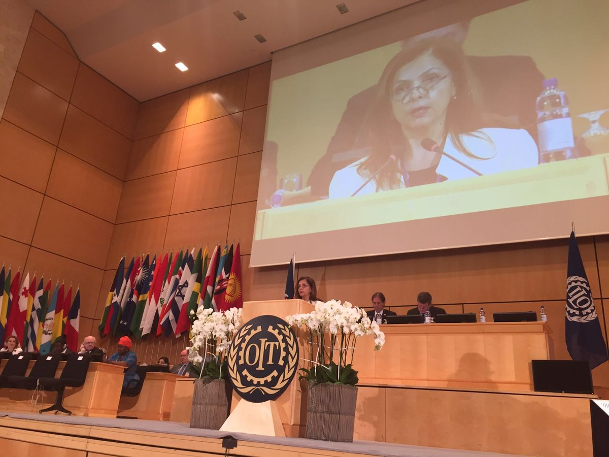 """#Albania Amb. #ILC2016 """"#employment & #decentwork crucial role in preventing crises arising from conflict&disaster """" https://t.co/0ZaeEtCyW9"""