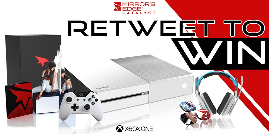 Retweet and Follow for your chance to win a Xbox One console and loads of #MirrorsEdgeCatalyst prizes