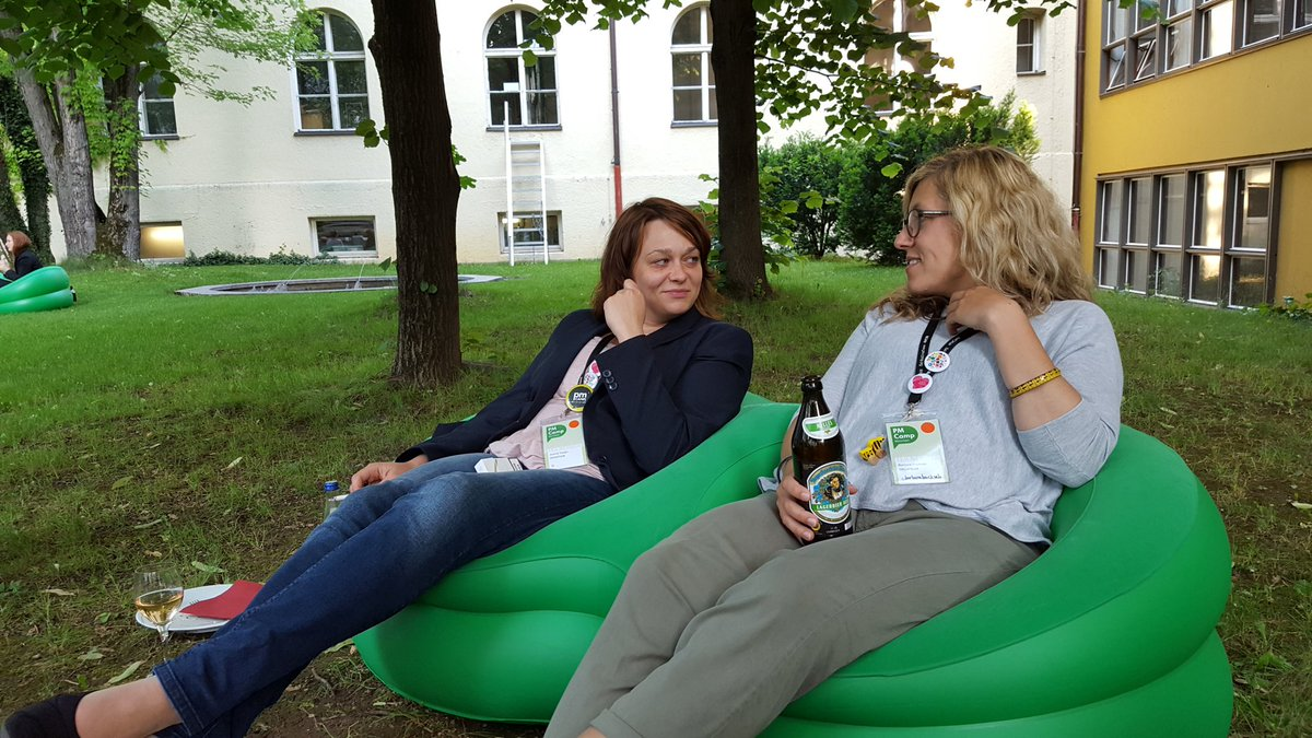 Orga chilled :) #PMCampMUC https://t.co/aAvBYLb92D