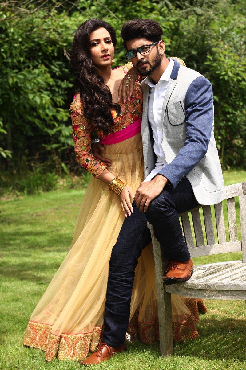 looking stunning together ! @cllmeOM @subhashreesotwe @EskayMovies #premkibhujini #puja2016 https://t.co/WmAV5xya3K