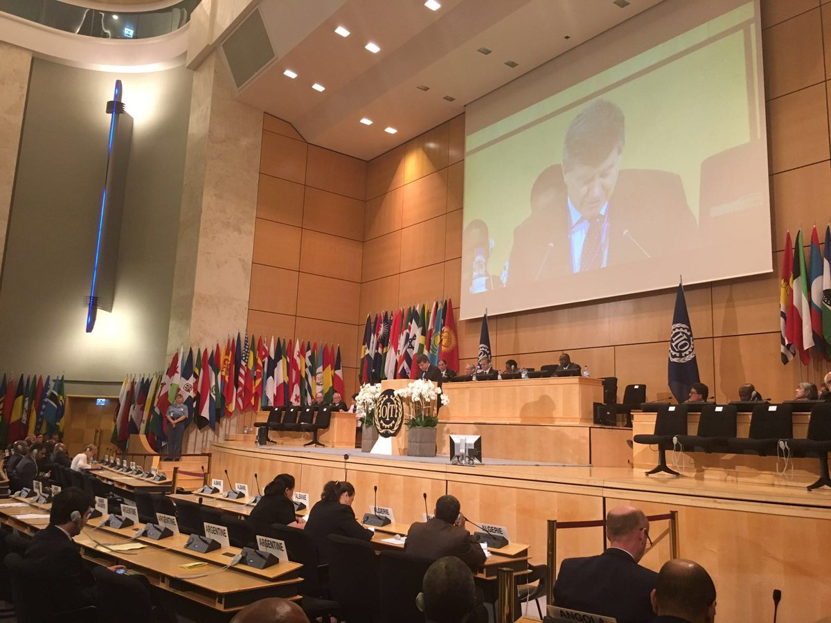 Important progress at #ilc2016 on key issues such as supply chains a tribute to value of social dialogue. https://t.co/maRHbz2Ep7
