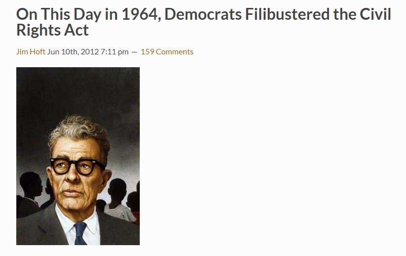 Today in 1964: Defeat of Senate Democrats' 57-day effort to filibuster the Civil Rights Act https://t.co/aDWLJKHkDd https://t.co/Xks7bznQLl