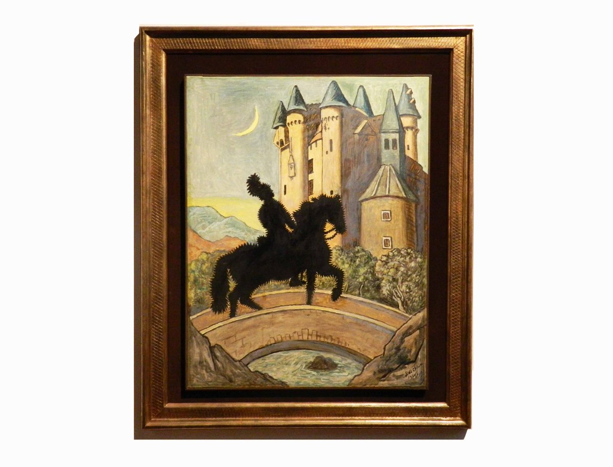 RT @GNrome Un pittore con la fantasia non vede il non visto ma crea ciò che vede. #GiorgiodeChirico, Ritorno al castello,1969
