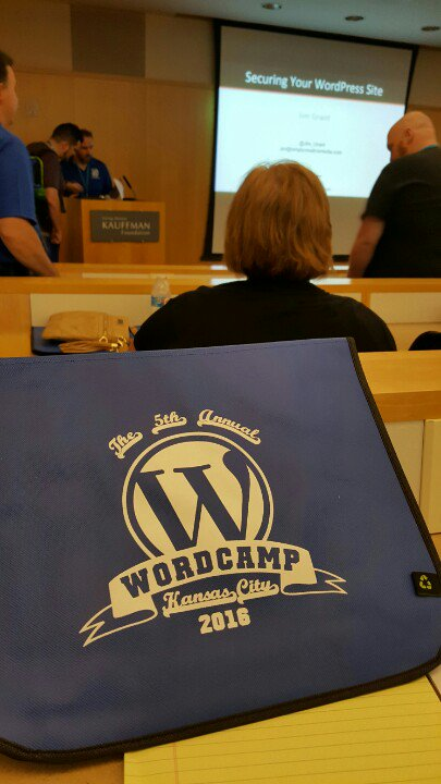 This is what camping gear looks like at #WordPress Wordcamp #wckc https://t.co/s44p80MD3R