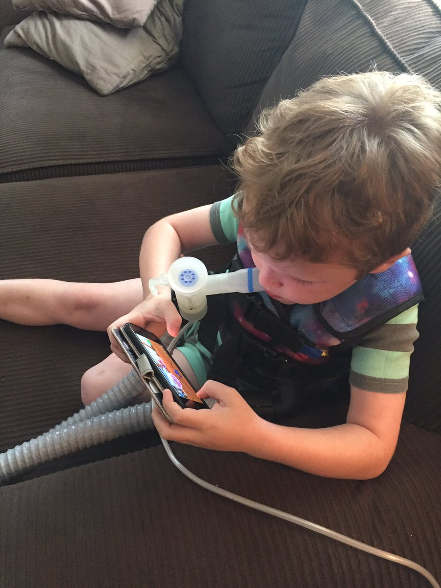 ISO a hands-free nebulizer that's not a mask so 6yo can enjoy his iPod time during 3x/daily tx for  #cysticfibrosis https://t.co/7Aon6drqA0