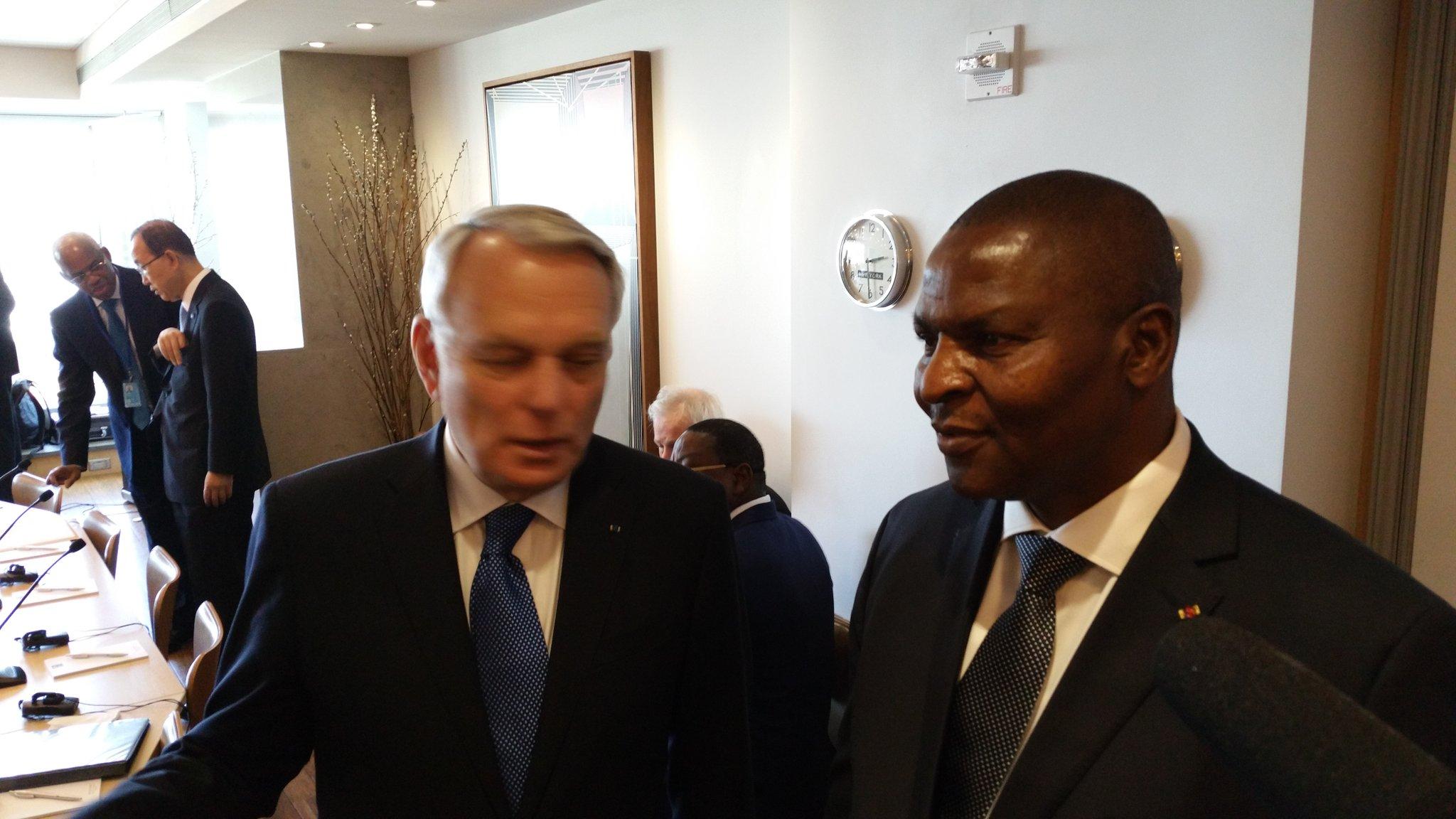 .@jeanmarcayrault et le Président de RCA participent à une réunion sur le maintien de la paix en Afrique https://t.co/Gesw8jmvzt