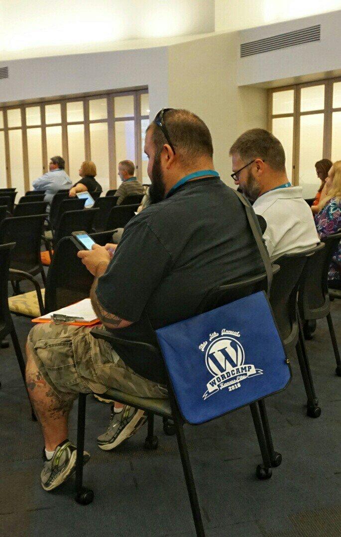 We've got #WordPress on our bag, swag. #WCKC https://t.co/9c3Qr3iBn7