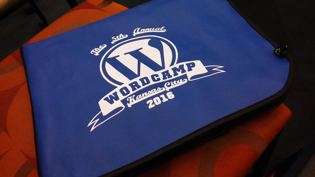 Not only am I getting cool swag but I'm getting great info! #wordcamp #wckc #KansasCity https://t.co/tY9YAahsi2