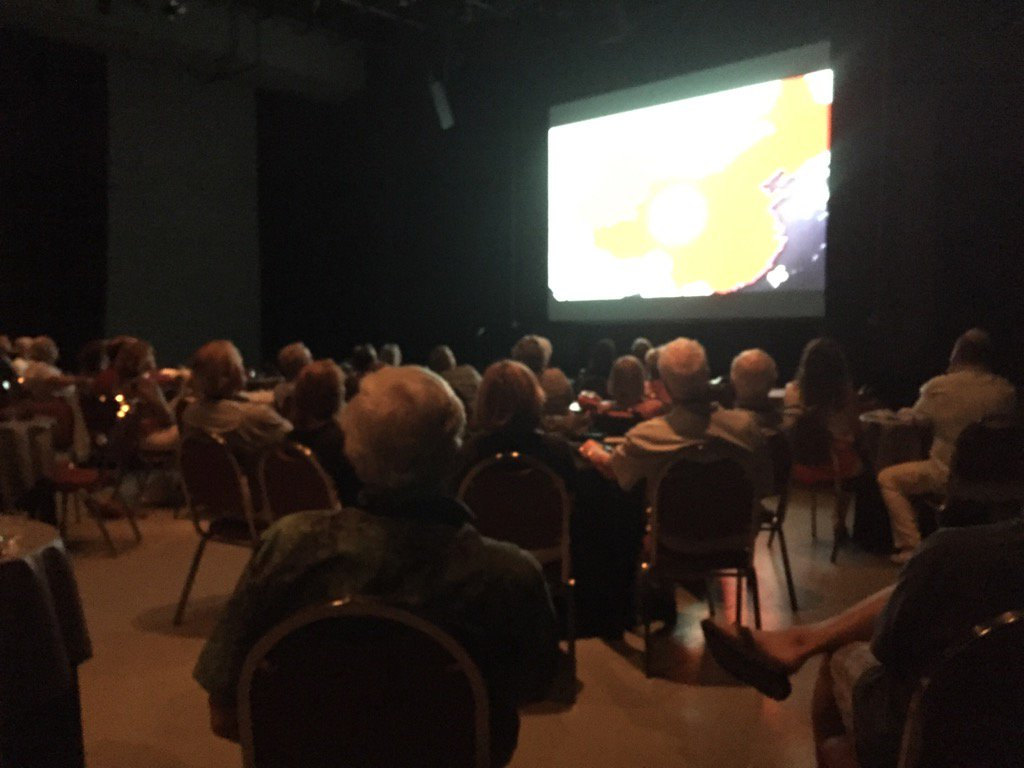 "Attendees at the WaxLax stage watching ""Hard to Believe."" #VBWFF #TCPalmSocial https://t.co/0zpBPfOnV7"