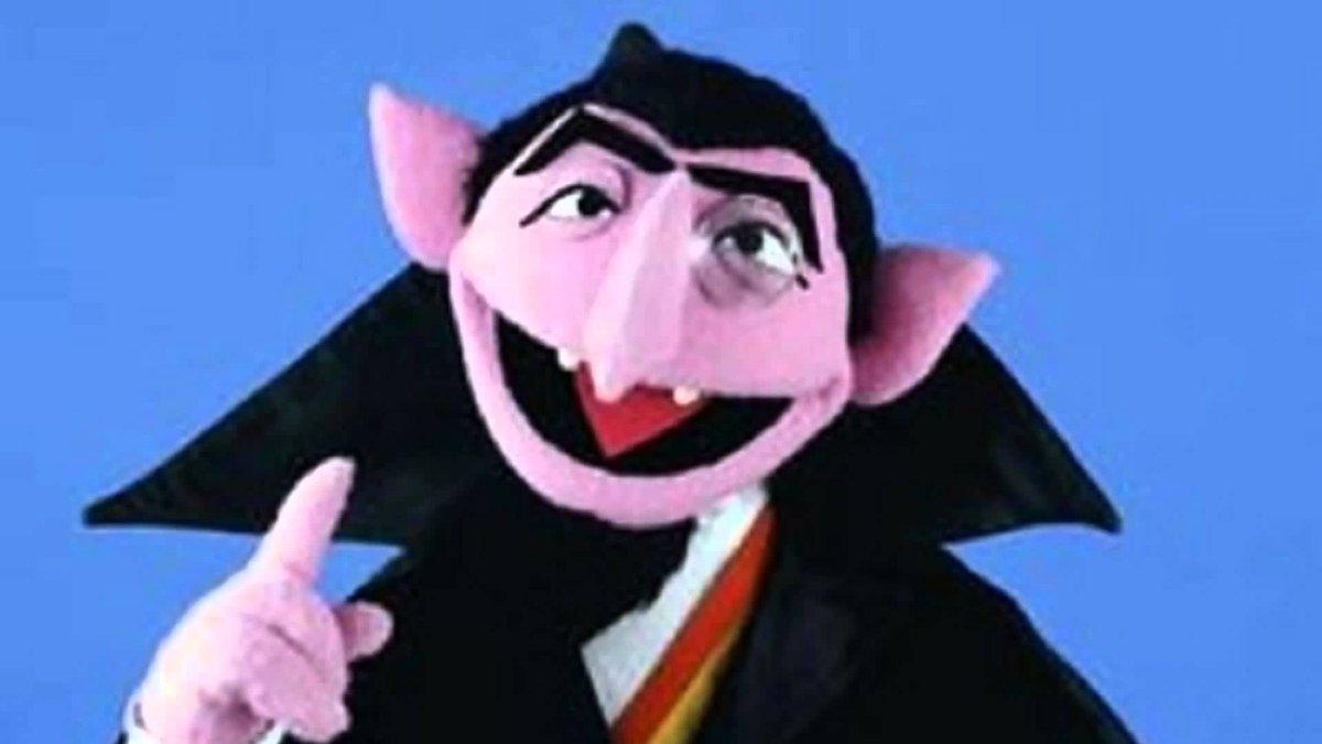Count Von Count Sesame Street Stays Count Von Count