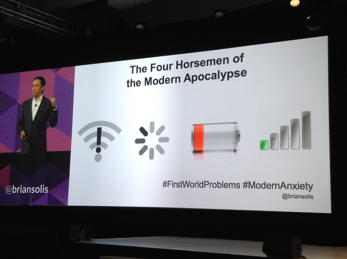 Do u know what's the 4 horseman of the modern apocalypse? @briansolis #linc16 https://t.co/J4E3VuyQA7