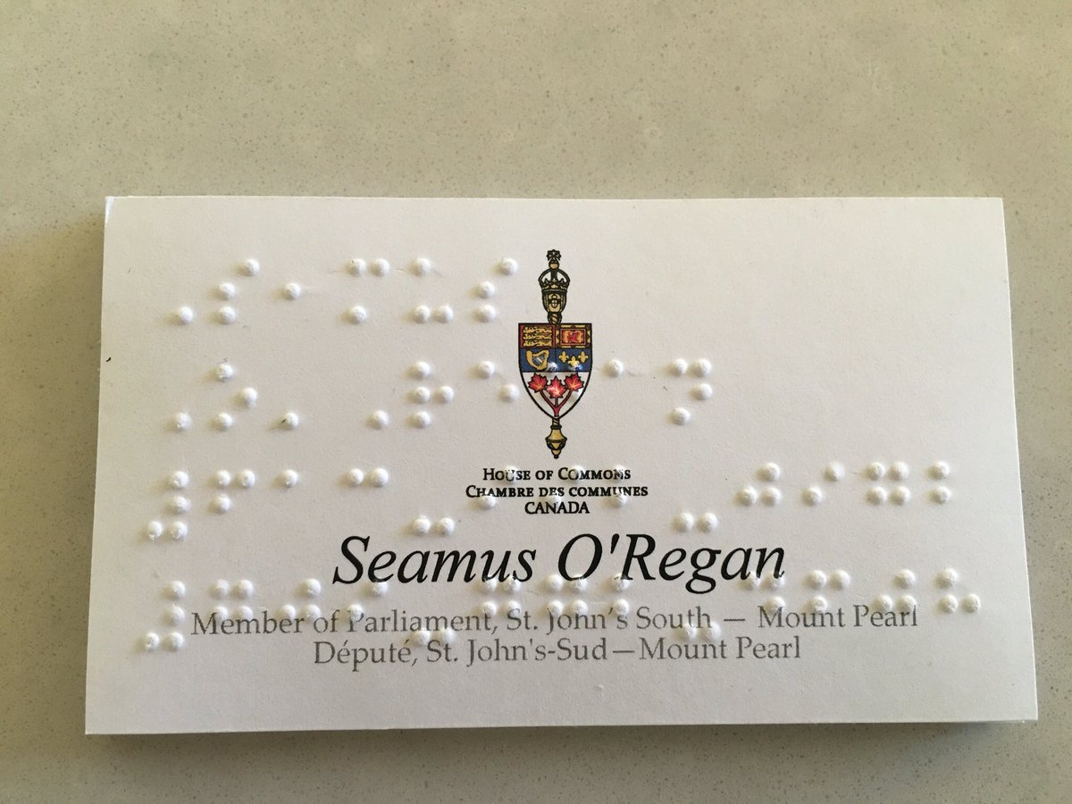 Seamus oregan on twitter ordered business cards in braille to seamus oregan on twitter ordered business cards in braille to promote accessibility the 2nd card i gave the man was legally blind reheart Choice Image