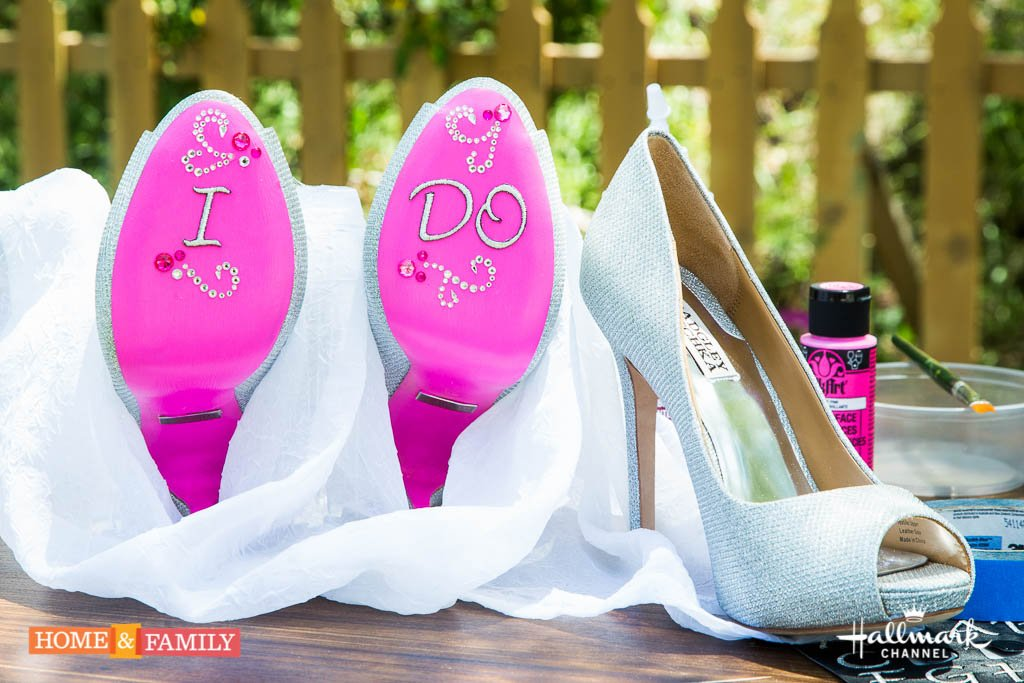 f931b9d5b5ea  DIY Friday  Make these stunning homemade shoes for your wedding! https