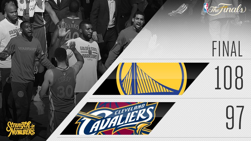 Dubs lead the series, 3-1. #StrengthInNumbers