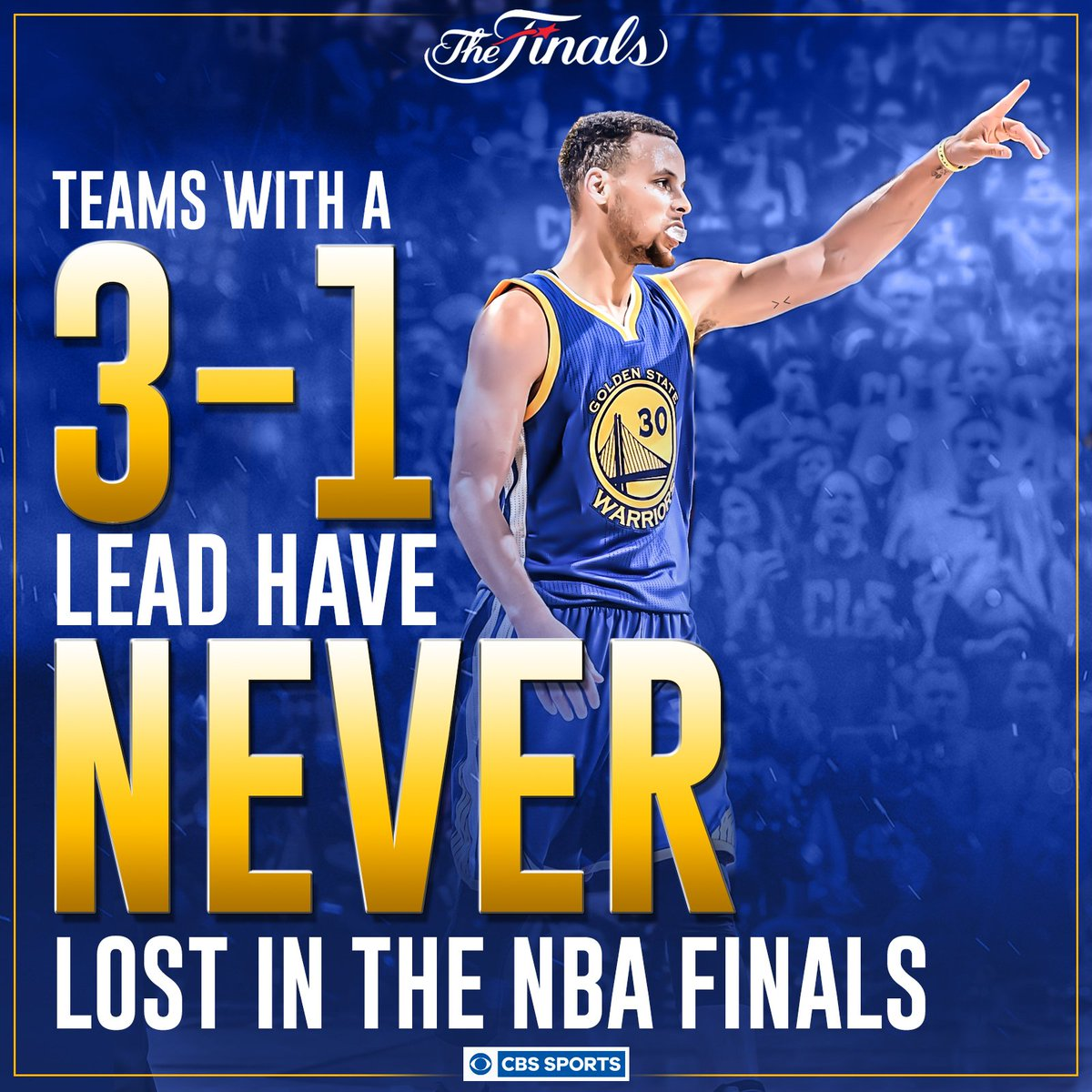 """Warriors Blew A 3 1 Lead Gif: CBS Sports NBA On Twitter: """"If History Is Any Indication"""