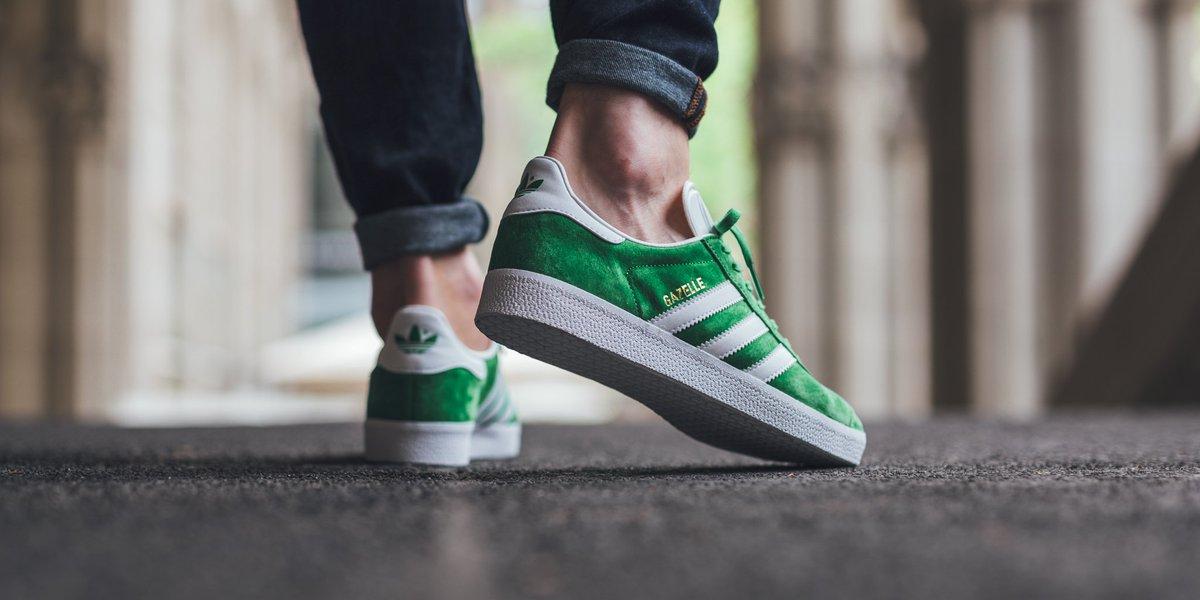 Adidas Gazelle greenwhitegold metallic