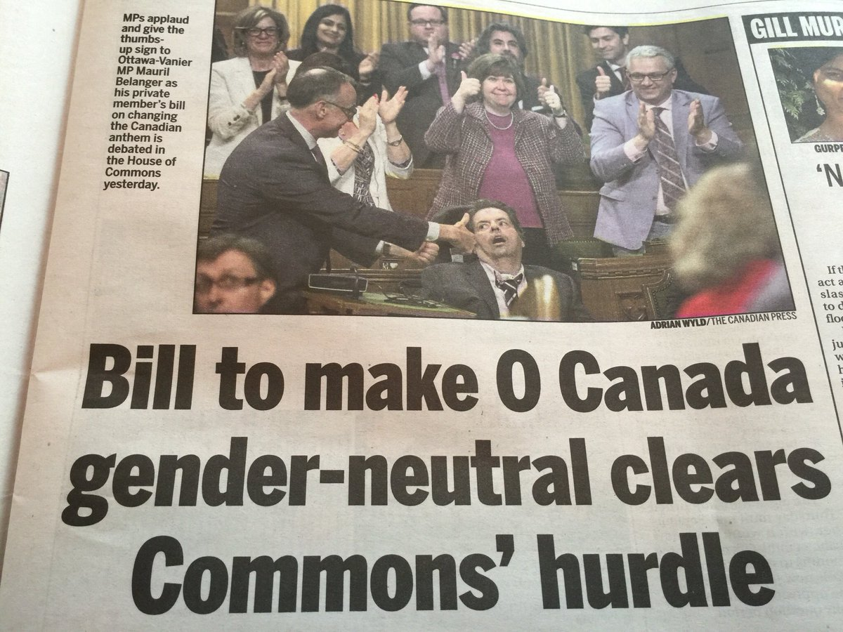 Thank You to our #Ottawa West MP @anitavandenbeld for being right there behind @Mauril_Belanger supporting his bill! https://t.co/zdIsRfSWKi