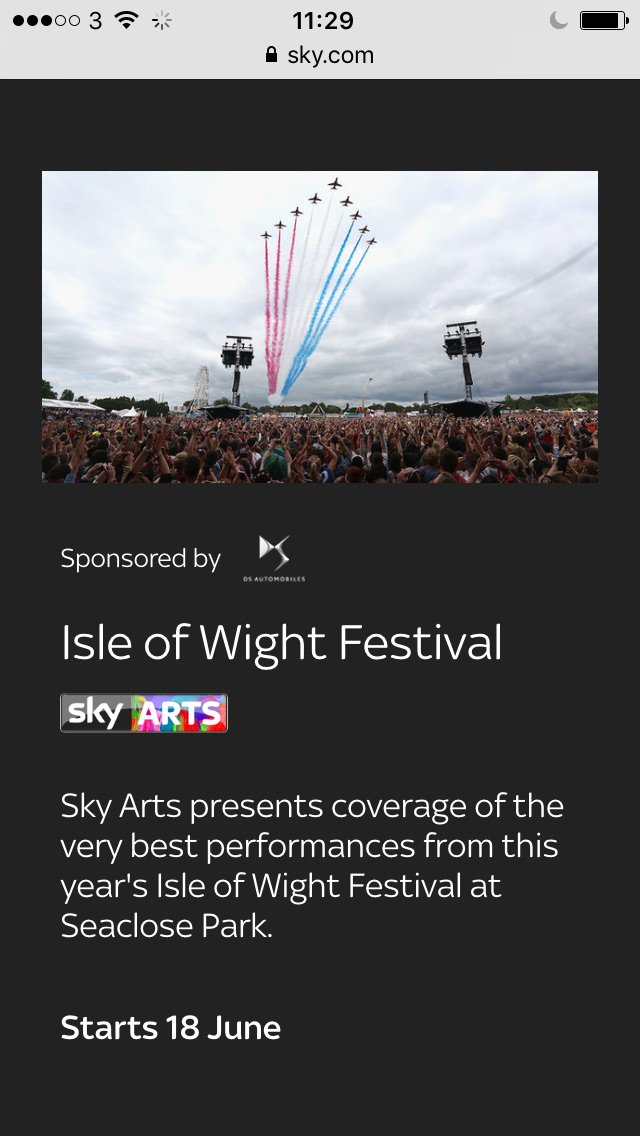Queen Adam Lambert Highlights from #IOWFest2016 on Sky Arts Channel latest details here (will update once finalised) https://t.co/x7aMJYy0al