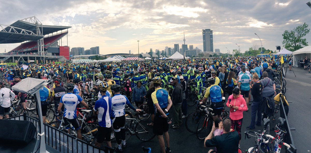 A sea of heroes. Thank you Riders!#TheRideTO https://t.co/12AGWPQZ4t