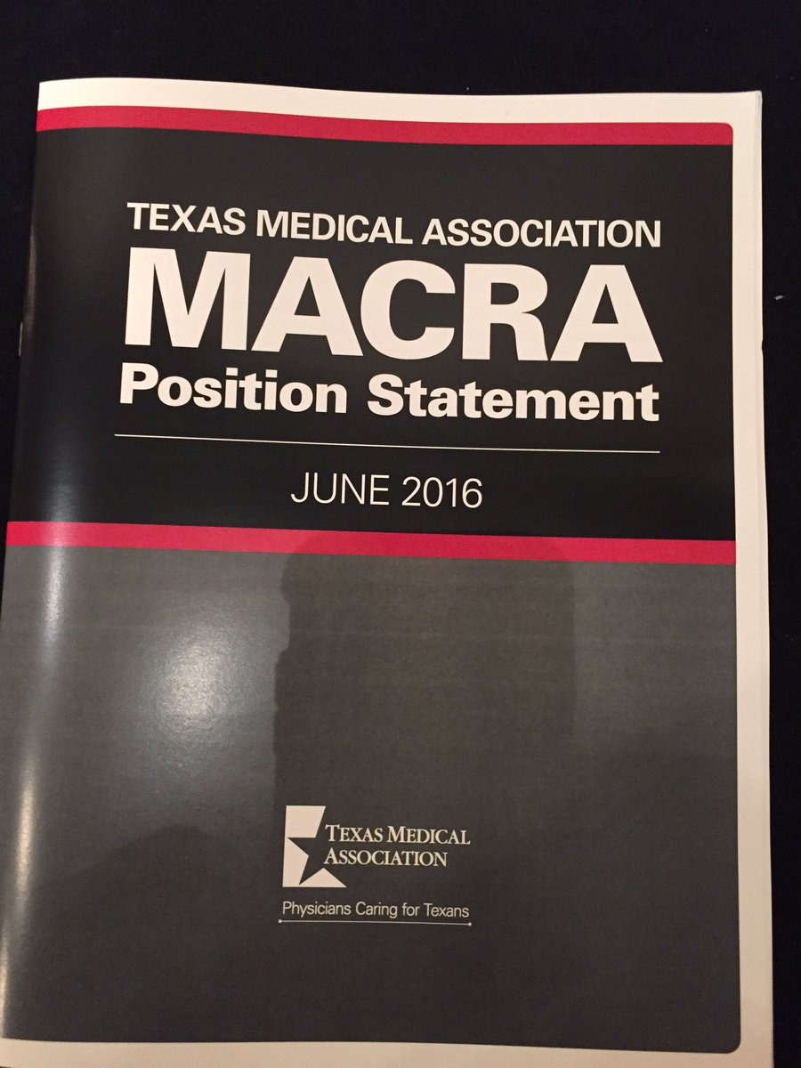 Our analysis/recommendations of feds' disastrous #MACRA rule making the rounds at #AMAmtg. Need a copy? See a Texan https://t.co/Pq60j8OuH7