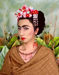 'Handshaped Earring'. Japanese artist #YasumasaMorimura Born #OTD June 11, 1951. Frm &#39;An Inner Dialogue with Frida&#39;<br>http://pic.twitter.com/GxkKtpFvze