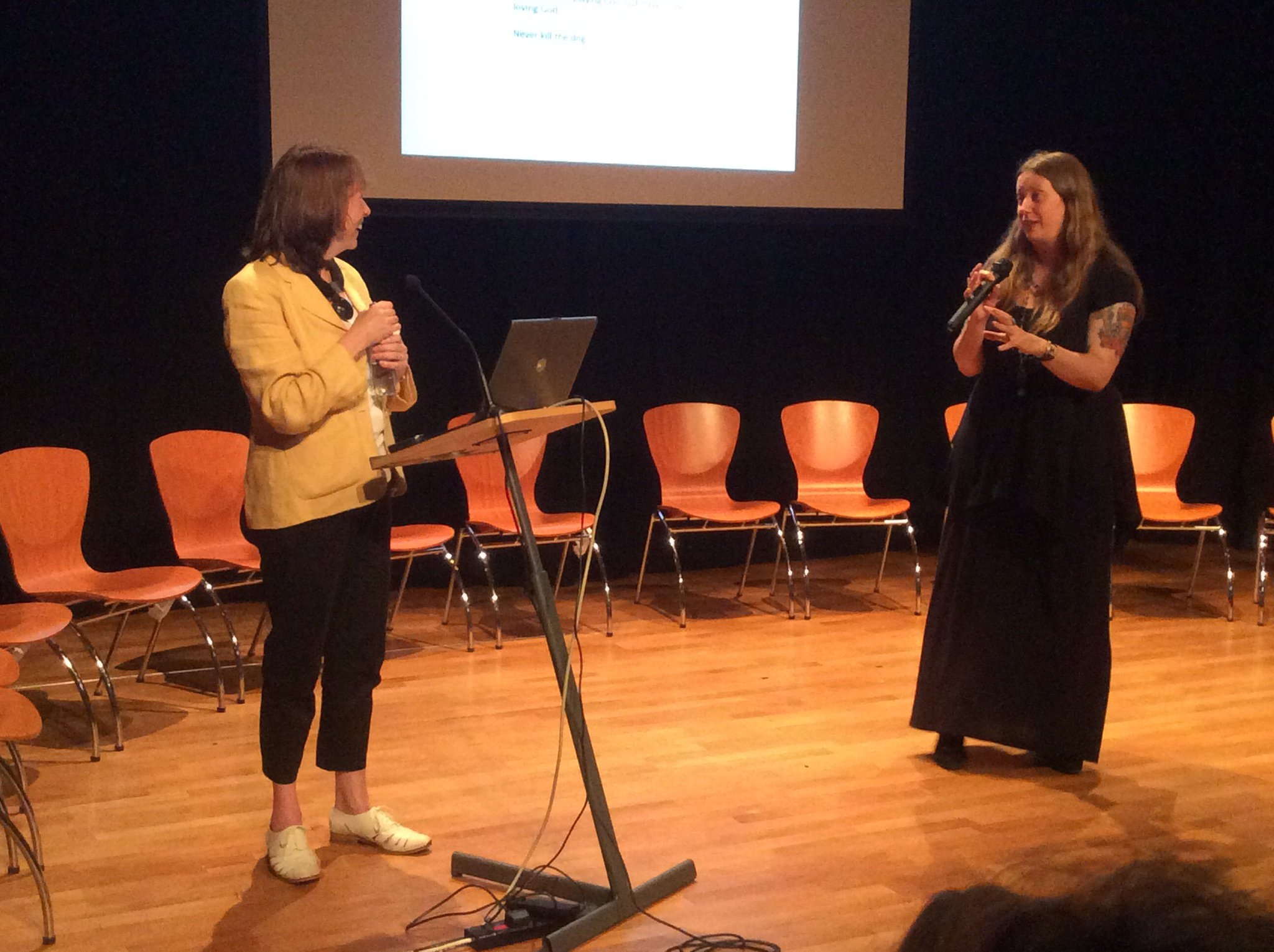 First ever #grrrlcon kicked off this morning! Here's @agentjenny & @OneNightStanzas on publishing. @ScotStoryCentre https://t.co/eLLq1R6sxv