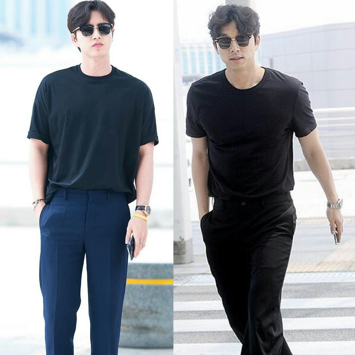 Han Hyo Joo Go Eun on Twitter u0026quot;Park Hae Jin and Gong Yoo Airport Fashion Incheon Airport. Same ...