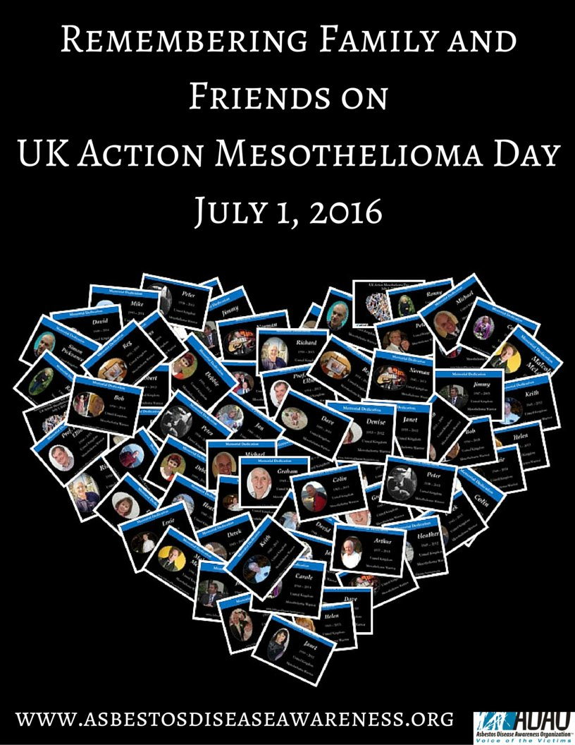 Remembering Family and Friends on UK Action #Mesothelioma Day July 1, 2016. #asbestos kills https://t.co/xLUoTRcPu8