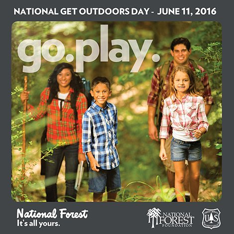 No fees today, so #GoPlay! It's National Get Outdoors Day! #ItsAllYours https://t.co/XsESxbyvzP