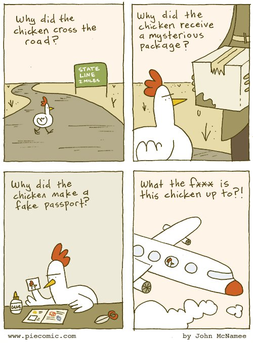Why Did the Chicken Cross the Road? https://t.co/Nk5Uk034tQ https://t.co/mCicxCQflF