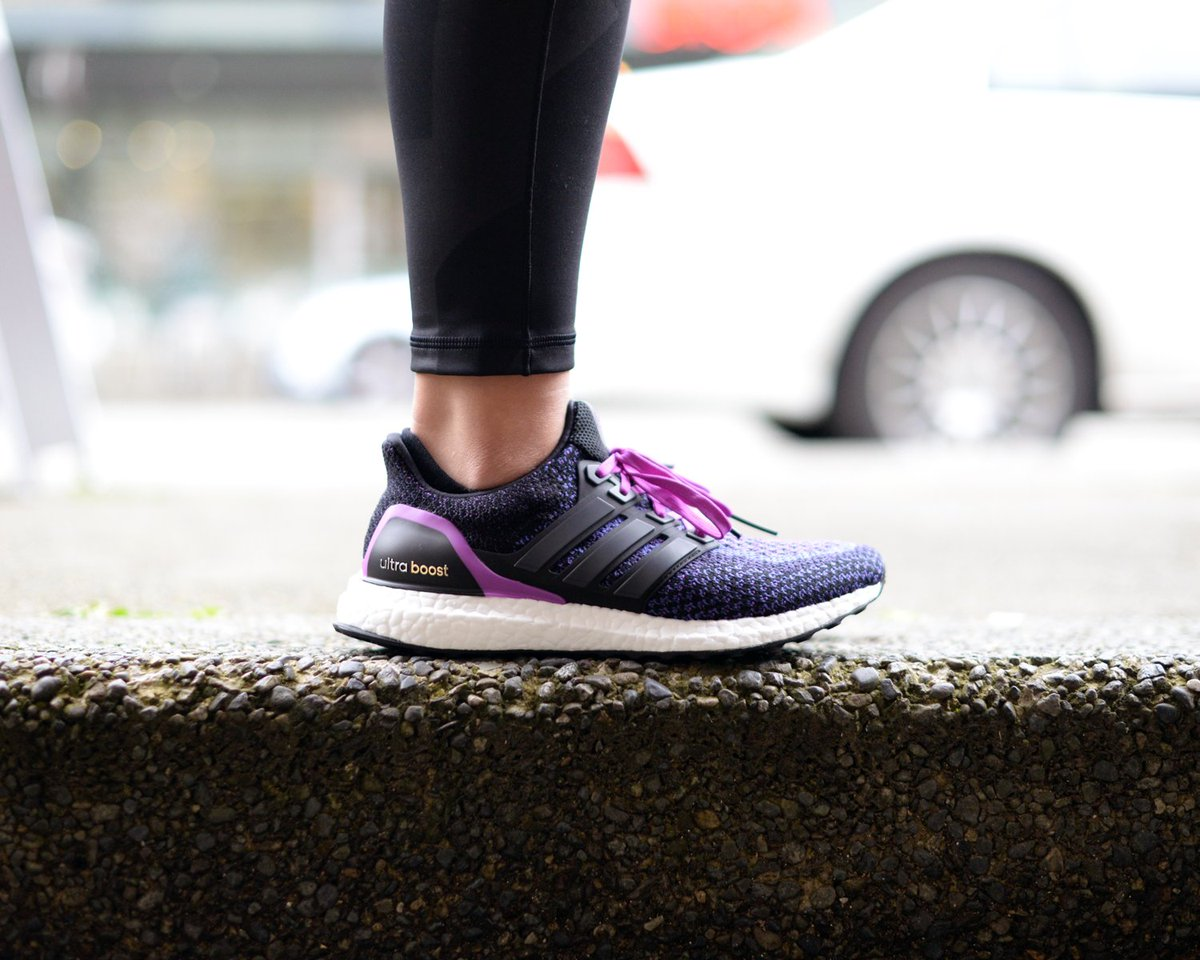 87f1d3825 ... reduced vancouver running co on twitter womens adidas core black purple  ultra boost now instock online