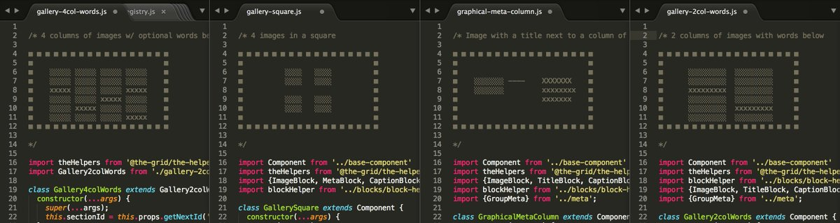 How will anybody know how your components should look if you don't ASCII render them in the code? https://t.co/LURSRuO6Ht
