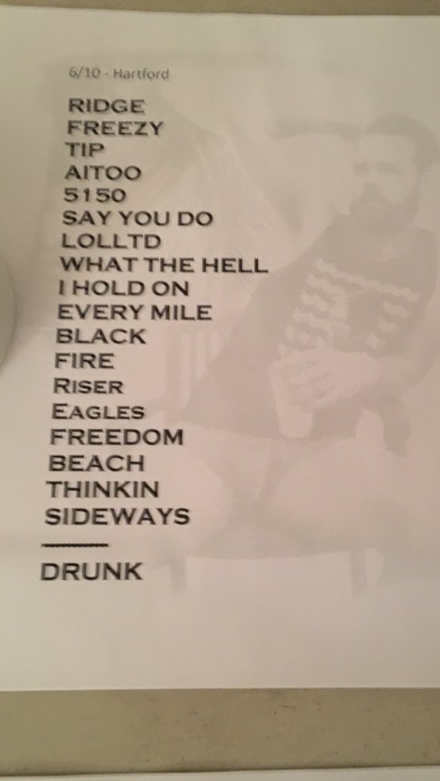"xfinity theatre on twitter: ""last night's set list for dierks"