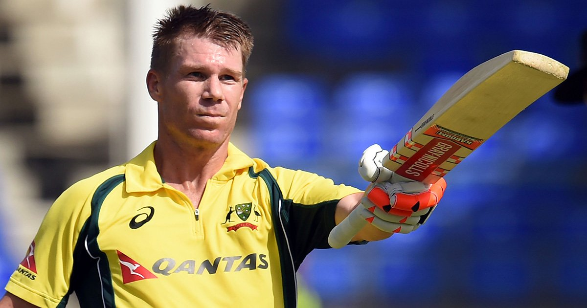 David Warner has one of the thickest bats in cricket
