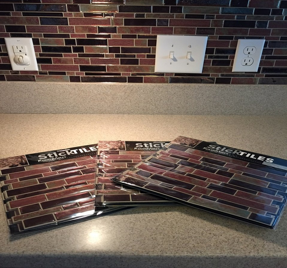 "My Diy Peel And Stick Tile Backsplash Installation: RoomMates On Twitter: ""#BeforeAndAfter: Easy Peel & Stick"