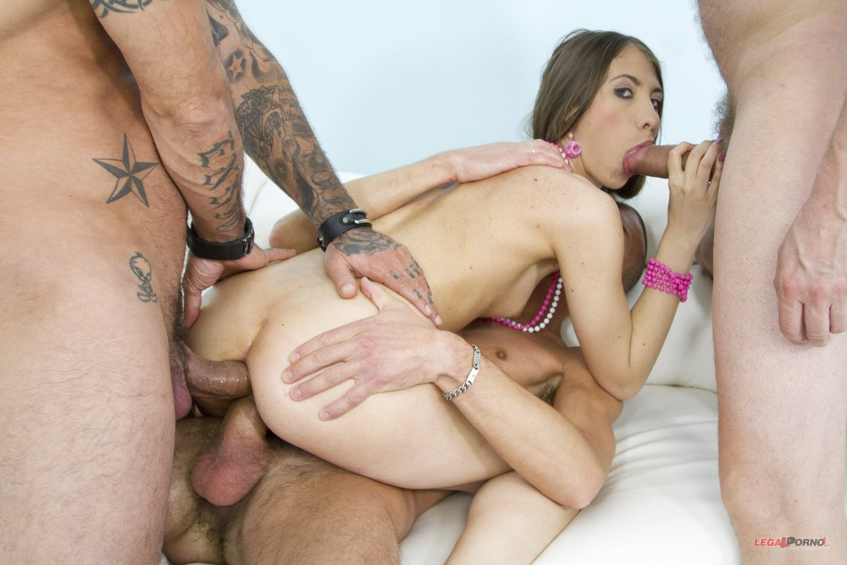 First Time Gangbang With Double Penetration