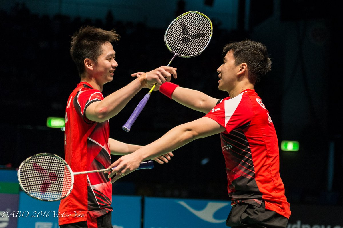 """AusBadOpen on Twitter """"Indonesian pair Marcus Fernaldi GIDEON and"""
