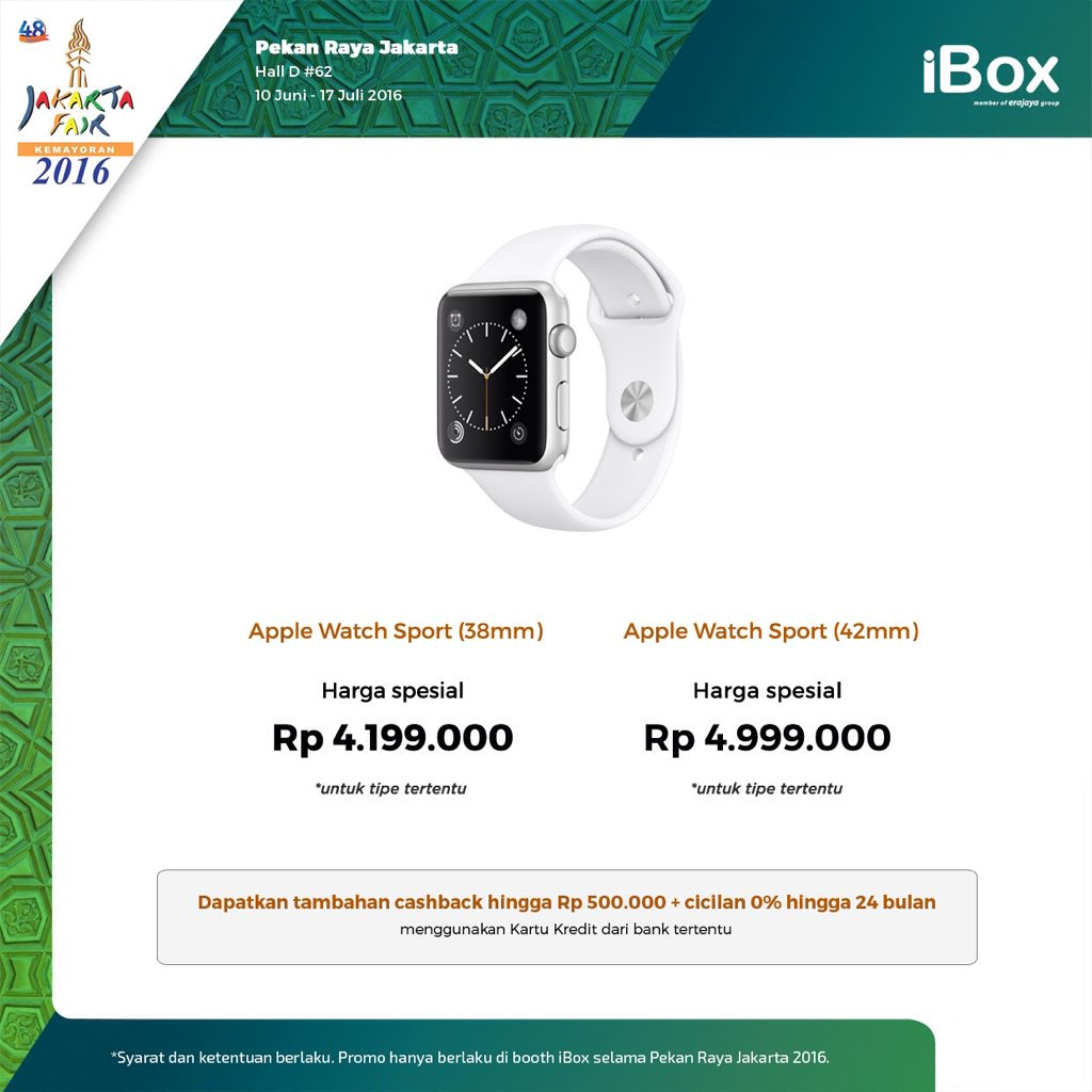 IBox On Twitter Apple Watch Promo Special Price Hanya Di Booth