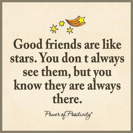 friend are like stars