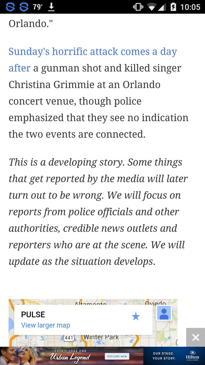 breaking news disclaimer on story about Christina Grimmie shooting