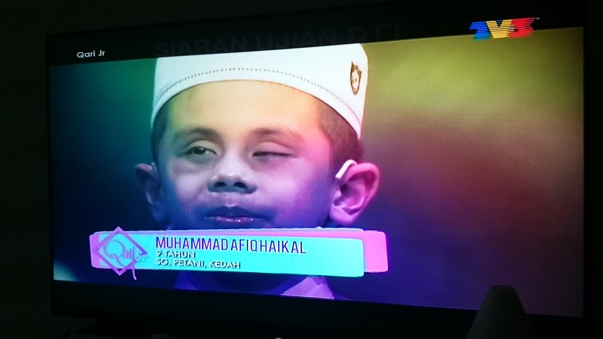 Muhammad Afiq Haikal, he is one of Qari Junior contestant & he is blind. May Allah ease your journey brother. Aamiin https://t.co/Tn1sZpM0gS