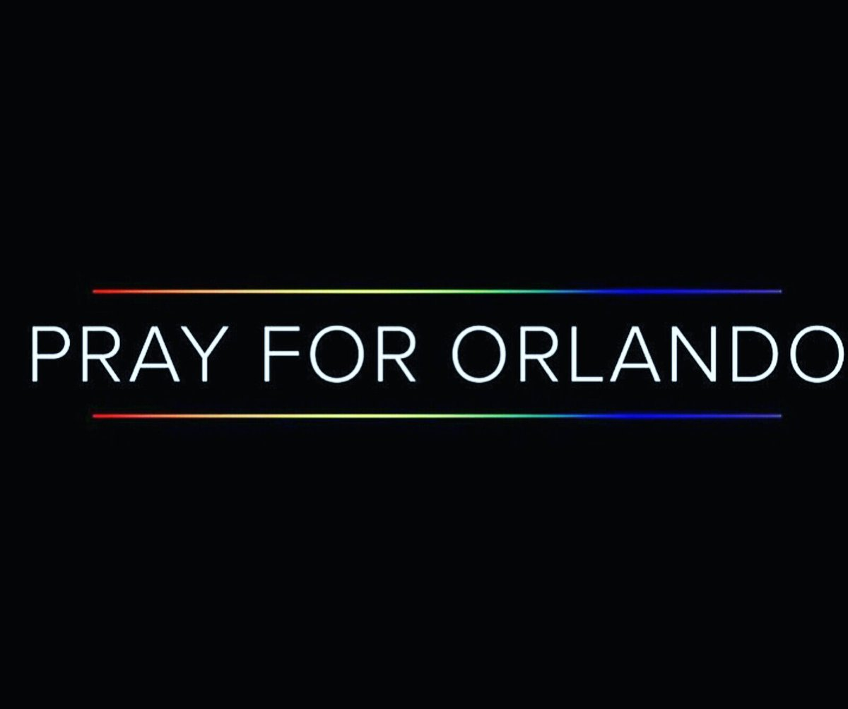 Our thoughts and prayers for all those in Orlando https://t.co/TloHtPTOqo
