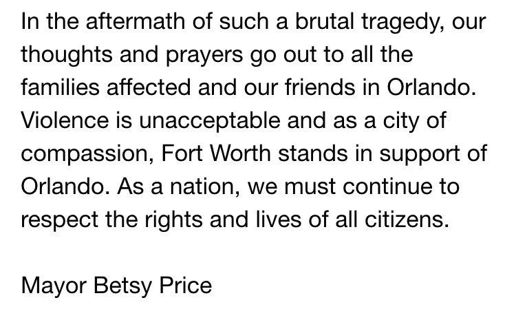 Statement re. Orlando tragedy: https://t.co/BMEZnkUg4T