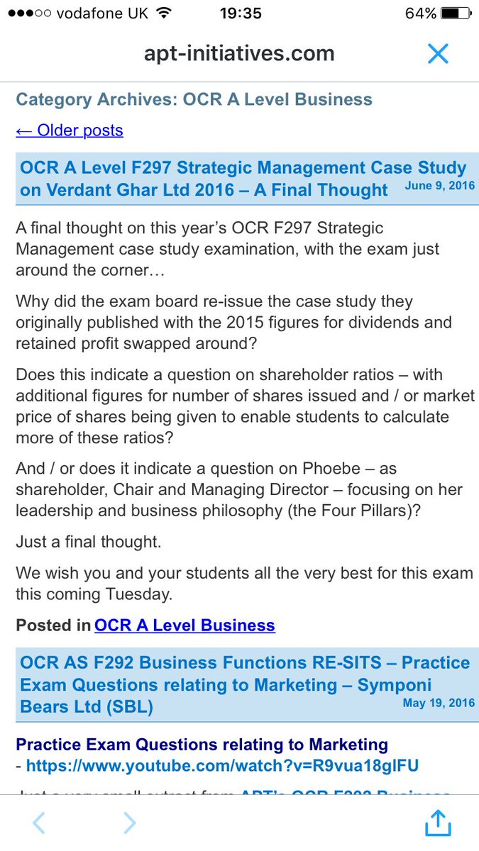 ocr f297 june 2014 case study
