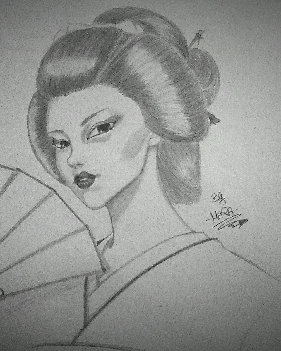 Mara scanu on twitter visits me in my fb page inthenameofart90 art artist drawing geisha japan beautiful girl manga pencil