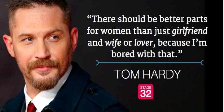 Do you agree with actor Tom Hardy?   #womeninfilm #filmmaking #actor https://t.co/31j93QzD9R
